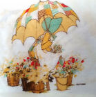 Vntg 70s Double Sided Springmaid 'Holly Hobbie' Pillowcase 'Calico Umbrellas'