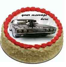 Fast & Furious charger car edible cake topper FONDANT birthday party
