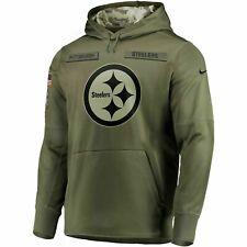 2018 Pittsburgh Steelers Mens NFL Nike Salute to Service Hoodie Sweatshirt (L)