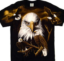 """American Indian Eagle LARGE PRINT Tee  2 side print X Large 46"""" -48""""  TEE RED007"""