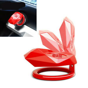 1pcs Red Decoration Cover Metal Alloy Fit For Car One Click Start Button Protect