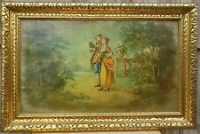 Vintage Painting of a Couple, Oil(?) on Board