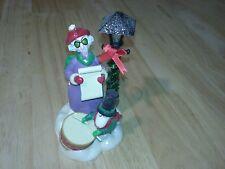 Talking Singing Hallmark Crabby Caroler Maxine Xmas Ornament in Box 2005