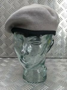 Genuine Hobson London Military Issue Light Grey Lined Wool Uniform Beret 7 1/4