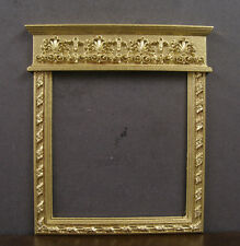 French Style Empty Picture Frame / Overmantle ~ 1:12 scale ~ Dollhouse Mini