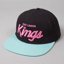 King Apparel Elk Script Noir rose menthe plat pic snapback hat cap