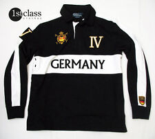 RALPH LAUREN Sweatshirt Gr. L GERMANY black/white Jersey-Baumwolle CUSTOM FIT