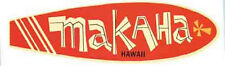 Surf  Makaha  Hawaii    Vintage 60's Style Travel surf surfing sticker Decal