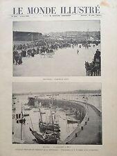 LE MONDE ILLUSTRE 1896 N 2055 VOYAGE EN BRETAGNE DU PRESIDENT M. FELIX FAURE