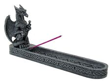 Medieval Dragon Incense Burner Holder Collectible Statue Figurine #91