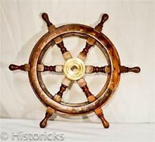 Wooden Ship Wheel 18 Inch ( pirate / boat / nautical / fancy-dress / larp )