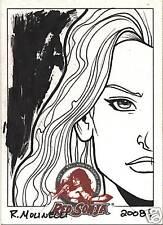 RED SONJA 35 BACK BASICS SKETCH CARD RICH MOLINELLI #87