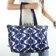 NWT Coach Signature Dream C Nylon Packable Weekender Tote Bag F77571 Navy Blue