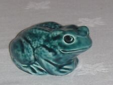 "POOLE POTTERY ""TOAD"" BLUE GLAZED ANIMAL ~ PERFECT"