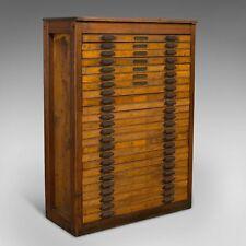 Large Antique Printer's Cabinet, Industrial, Plan Chest, Specimen, Art Vault