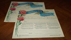 Western Union Greetings Unused Form Nice Graphic good color Mothers day LOOK