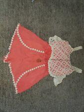 Speechless Big Girls' Lace/Gauze Romper, Coral, M (7-16)