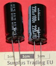 Nichicon VR Radial Electrolytic Capacitor 220µF 100V 85°C (Pk of 2)