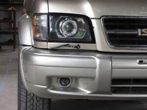 99-02 Isuzu Trooper Polycarbonate Headlight Covers for retrofit, pair.