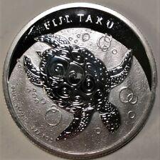 2012 Fiji Taku Sea Turtle 1 Oz Silver $2 Coin Deep Mirrored Cameo Proof QUEEN!