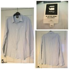 G Star Raw Correct White Shirt Mens Long Sleeved Fitted Size XXL (A530)