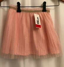 Epic Threads Sz 4T/4 Crystal Rose Sparkly Gold Pleated Mesh Overlay Skirt NWT