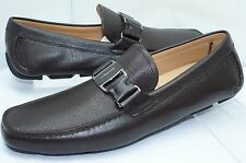 New Salvatore Ferragamo Sardegna Drivers Brown Shoes Size 10 Men's Loafers