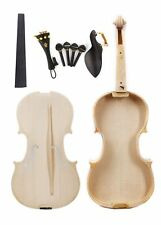 Unfinished White Violin Unglue Violin Top Flame Maple Spruce Hand Made violin