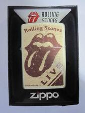 Vintage Retired Unstruck Zippo - Rolling Stones CREAM MATTE LIGHTER 28018