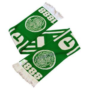 CELTIC FC ESTABLISHED 1888 GREEN SCARF OFFICIALLY LICENSED