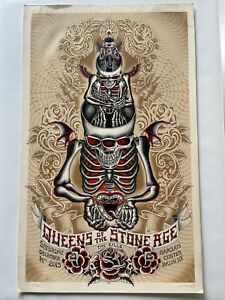 Emek Queens Of The Stone Age Barclays Center 12/14/13 Concert Poster