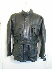 BIKERS GEAR HEAVY LEATHER MOTORCYCLE TOURING JACKET SIZE XXL ARMOUR + LINER