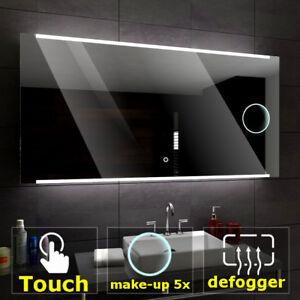 Hobart éclairé del Miroir salle de bain LED interrupteurs maquillage