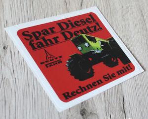 Deutz * Spar Diesel Fahr DEUTZ Aufkleber Logo Emblem Sticker Label * .
