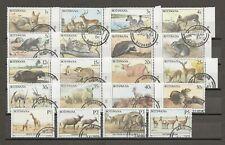 More details for botswana 1987 sg 619/38 used cat £48