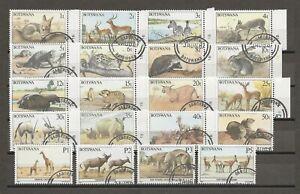 BOTSWANA 1987 SG 619/38 USED Cat £48