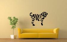Wall Vinyl Sticker Decals Mural Design Art Cute Puppy Dog Zebra bo072