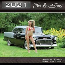 2021 Fast & Sexy Car Girl Wall Calendar 12x12 inches (R Version)
