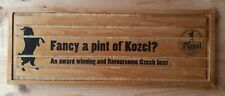 More details for large kozel wooden drip tray beer mat man cave bar breweriana pub sign
