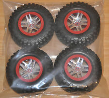 Traxxas 1/10 Slash 4x4 BF Goodrich Tires /12mm Red Chrome Wheel (4) TRA6871R S1