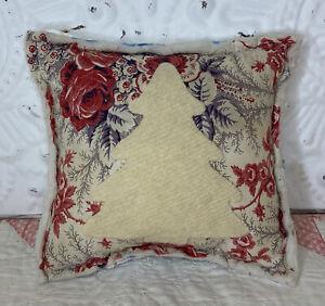 NEW Handmade Christmas Tree Pillow Tuck    Vintage English Quilt  Old Maltese