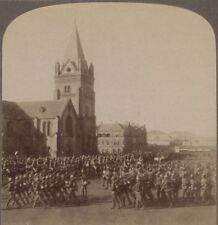 Britains Soldiers Reviewed In Boers Fallen Capital Pretoria. Boer War Stereoview