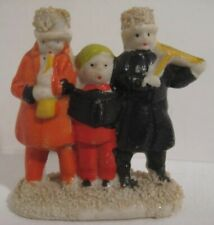 Old Bisque Miniature Snowbaby Christmas Carolers for Putz Village