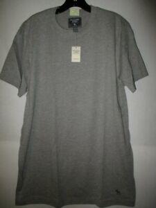 NWT Men's  XL Abercrombie & Fitch Underwear  SS Heather Gray Tee Shirt - *WOW!*