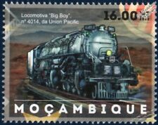 Union Pacific (UP) ALCO BIG BOY 4-8-8-4 LOCOMOTIVE TRAIN STAMP (2012 Mozambique)
