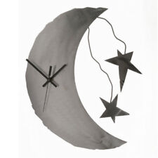 Metallic Evolution Moon & Stars Wall Clock