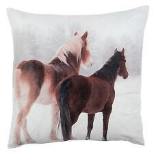 Clayre & fed almohada con relleno caballos invierno nostalgia 40*40cm