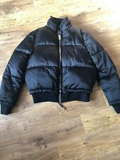 Black Satin Look Puffa Jacket From Topshop Size 4