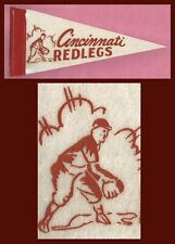 OLD Cincinnati Reds Baseball Pennant! 1950's WOW!