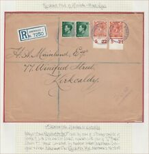 REGISTERED ABERDEEN TO KIRKCALDY MIXED REIGNS 2d ORANGE CONTROLS S21 & S22 COVER